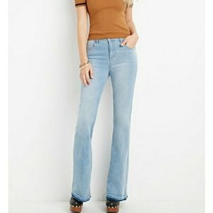NWT Forever 21 high rise flared denim jeans